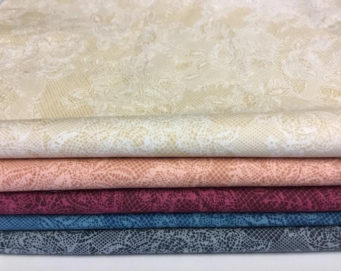 50% off: 1m25 lace print cotton poplin