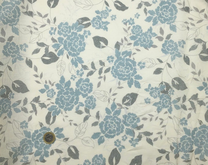High quality cotton lawn  dyed in Japan with vintage flowers