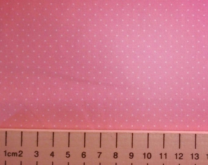 High quality cotton poplin printed in Japan, mid pink