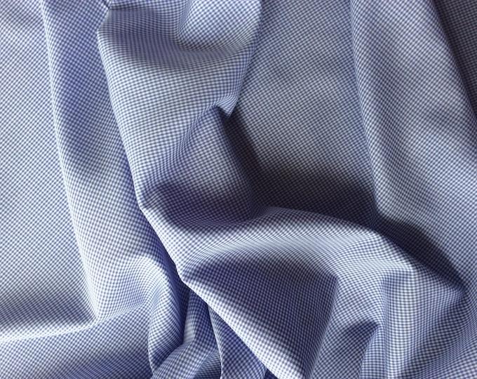 Cotton poplin, lavender check weave