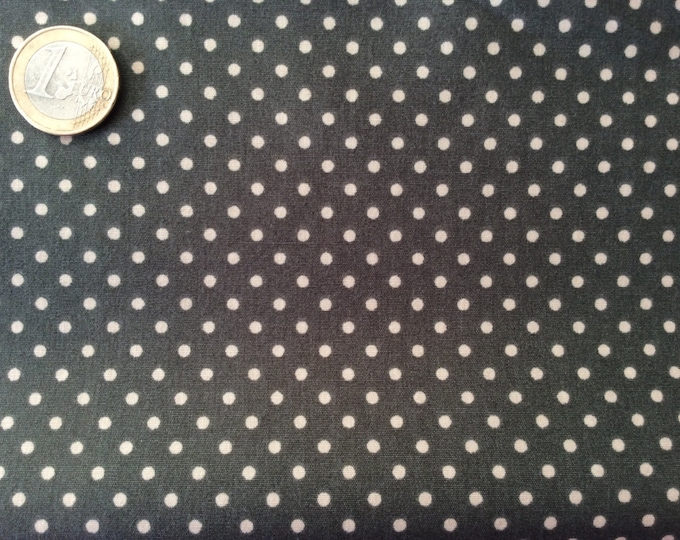 High quality cotton poplin dyed in Japan with 3mm polka dots no31