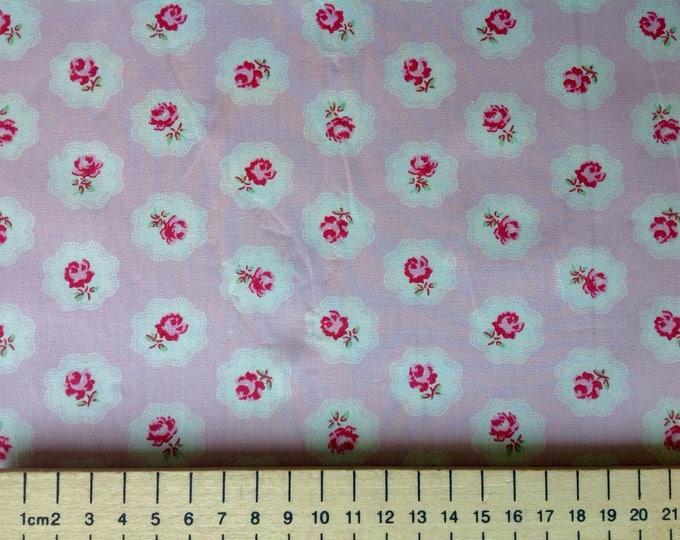High quality cotton poplin, vintage floral print