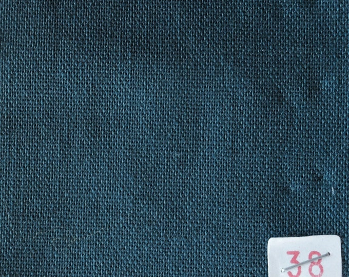 High quality soft cotton canvas dyed in Japan. petrol blue nr38