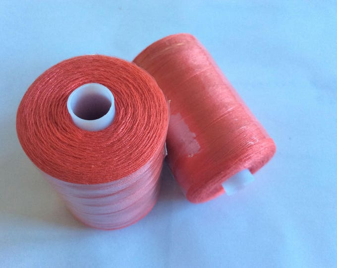 Polyester sewing thread, 1000 yards or 915m, coral