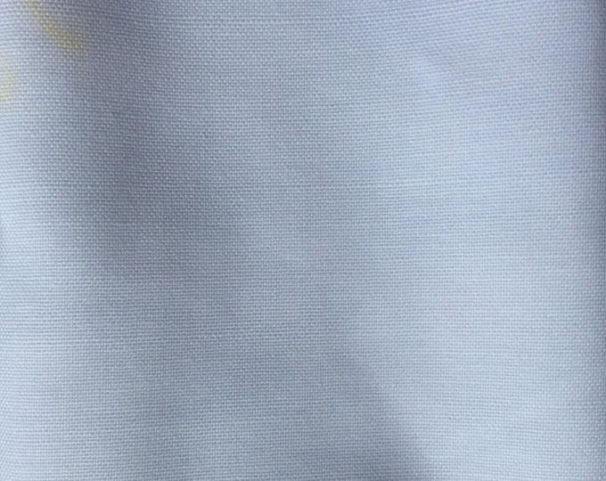 Blue and white oxford polycotton fabric