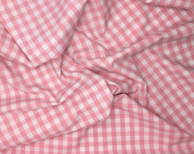 High quality cotton poplin dyed in Japan with Vichy or check weave