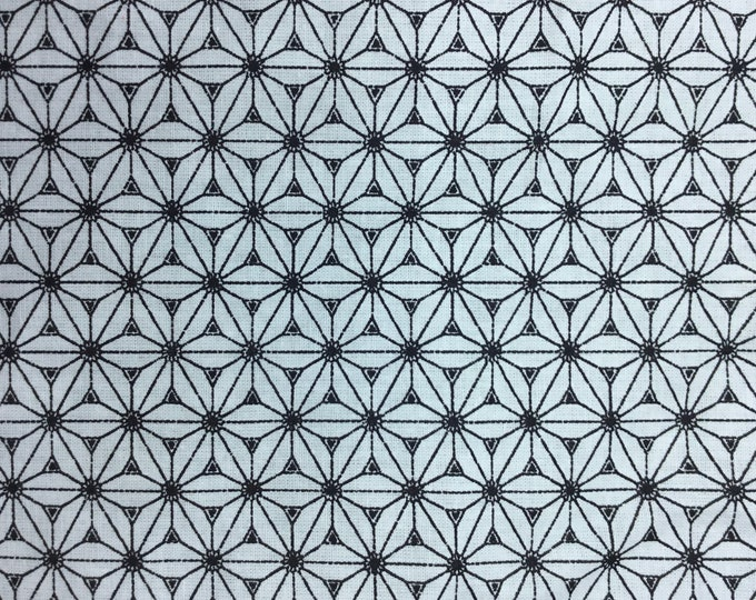 High quality cotton poplin. Black and white Sashiko print