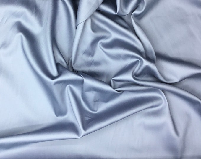 High quality cotton satin, steel grey col11