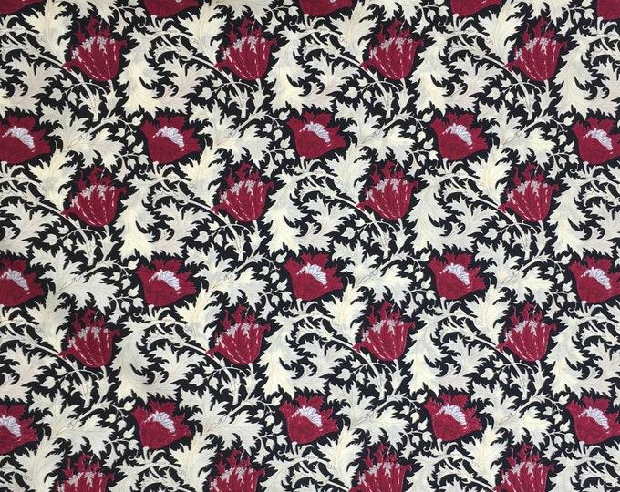 English Pima lawn cotton fabric, priced per 25cm. Flowers