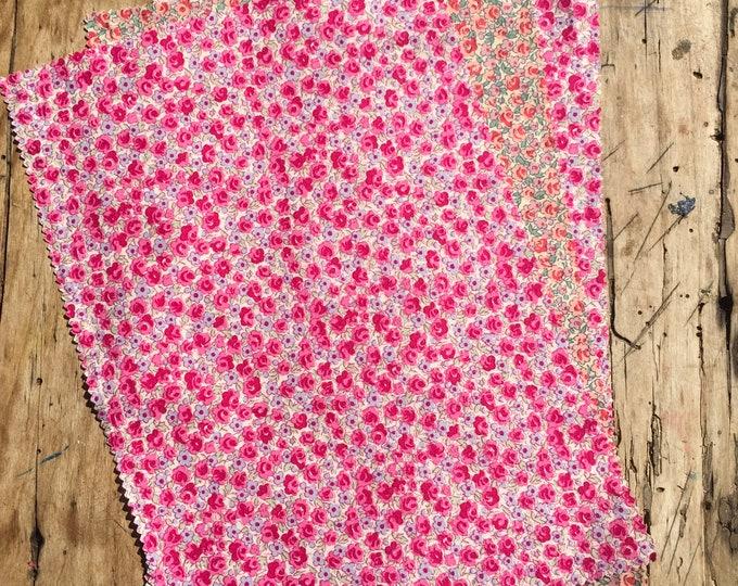 "Bundle of pima lawn fabric, 3 rectangles 8""x13"""