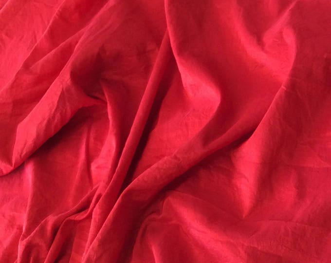 Taffetas fabric, red