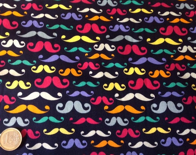Japanese cotton popeline, printed whiskers