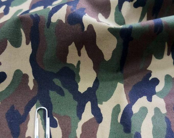 Cotton poplin with Army print