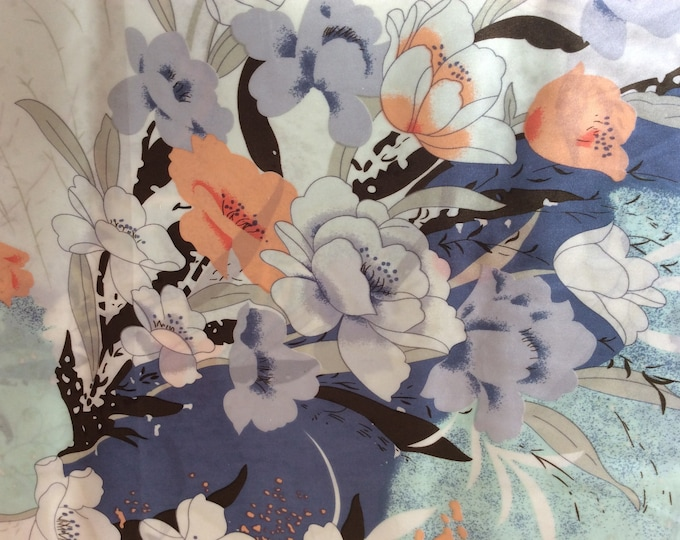 Genuine silk sateen fabric