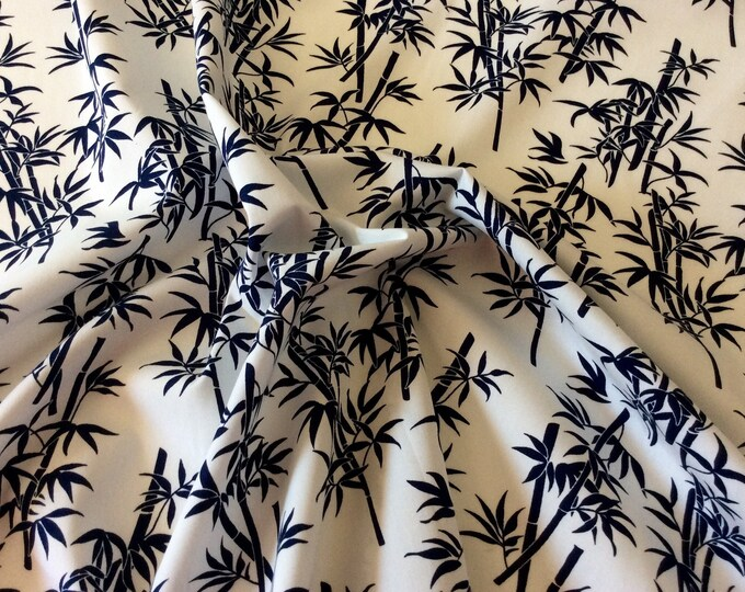 High quality cotton print, bamboo print on navy
