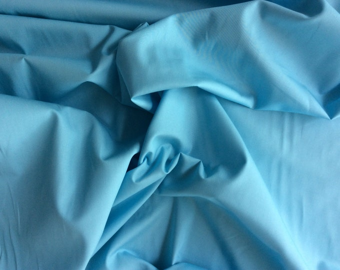 High quality cotton poplin dyed in Japan. Sky blue no8