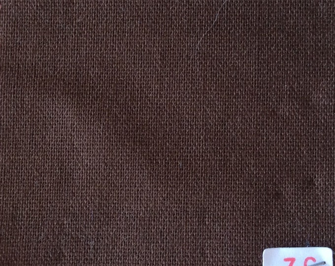 High quality soft cotton canvas dyed in Japan. Chocolate nr36