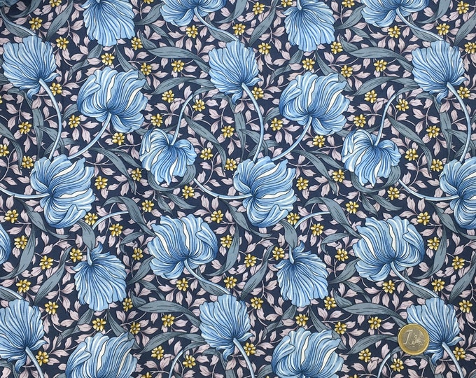 English Pima lawn cotton fabric, foliage, jugend style