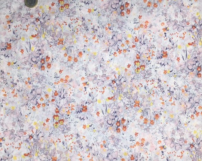 English Pima lawn cotton fabric, Winter Field