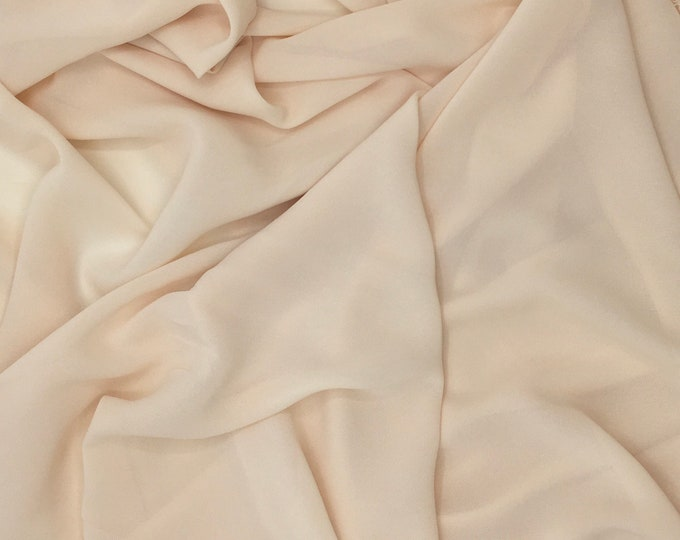 High quality Faux Silk Chiffon. Nude N24