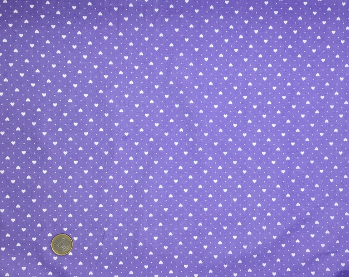 High quality cotton poplin dyed in Japan with hearts, lavender