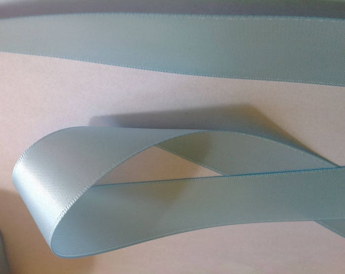 Double sided sateen ribbon, soft blue turquoise nop852 or 172