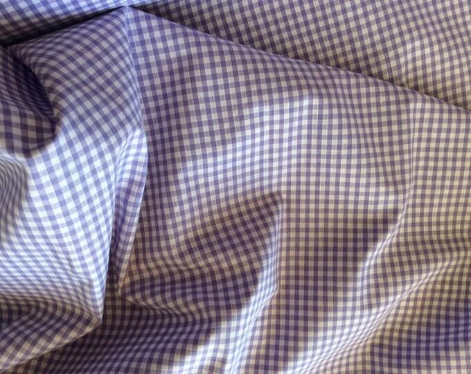 High quality Gingham polycotton poplin. lavender no27