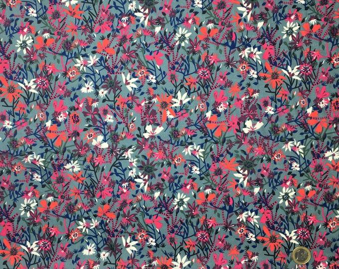 English Pima lawn cotton fabric. Carla on grey