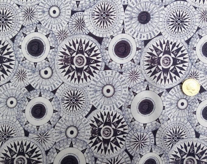 English Pima lawn cotton fabric, priced per 25cm, grey mappemonde