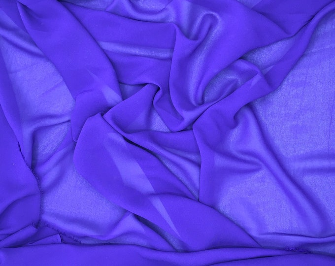 High quality Faux Silk Chiffon. Purple n54