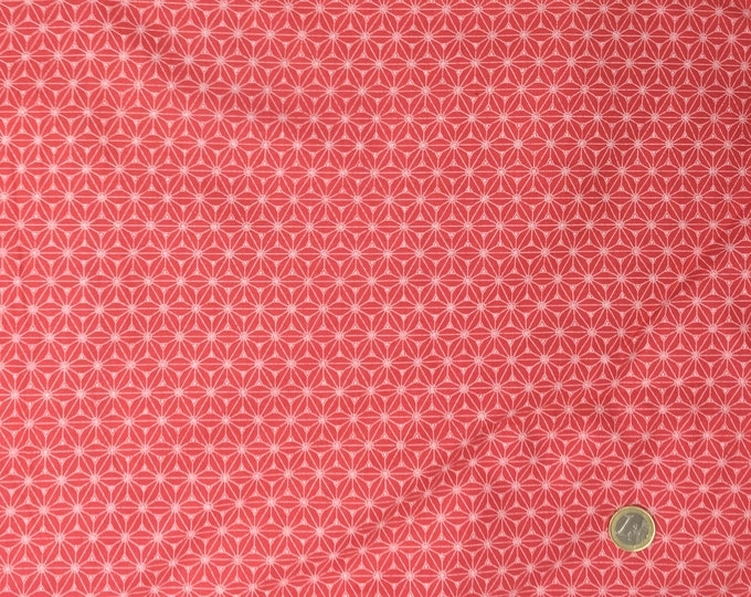 High quality cotton poplin. Coral Sashiko print