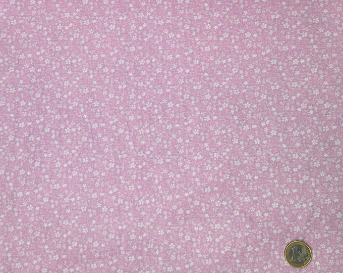 High quality cotton poplin, pink floral print