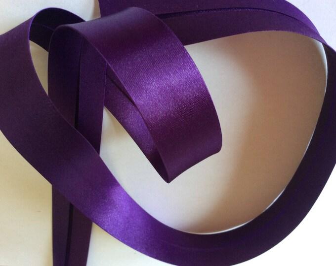 25mm silky sateen bias binding, purple no39