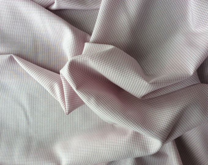 Cotton poplin, antique pink check weave