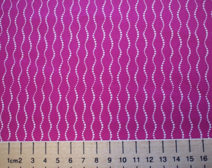 High quality cotton poplin printed in Japan, hot pink wave print