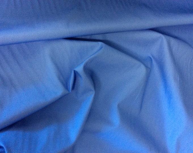 High quality cotton poplin dyed in JapaN. Mid blue no21