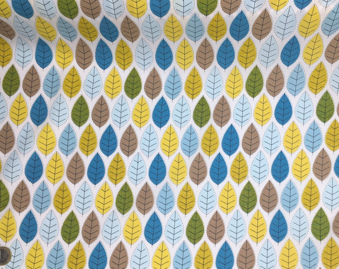High quality cotton poplin, summer leaves