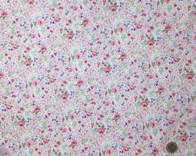 English Pima lawn cotton fabric, priced per 25cm. Floral