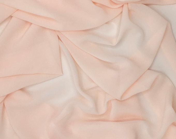 High quality Faux Silk Chiffon. Nude N20