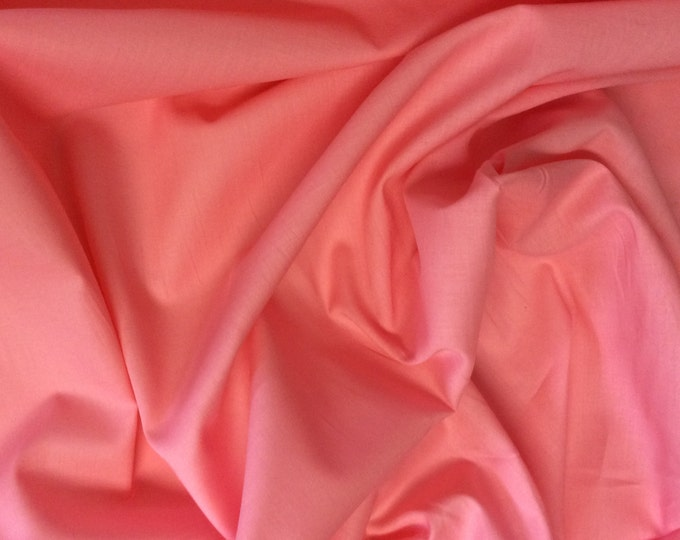 High quality cotton lawn dyed in Japan. Coral pink no45