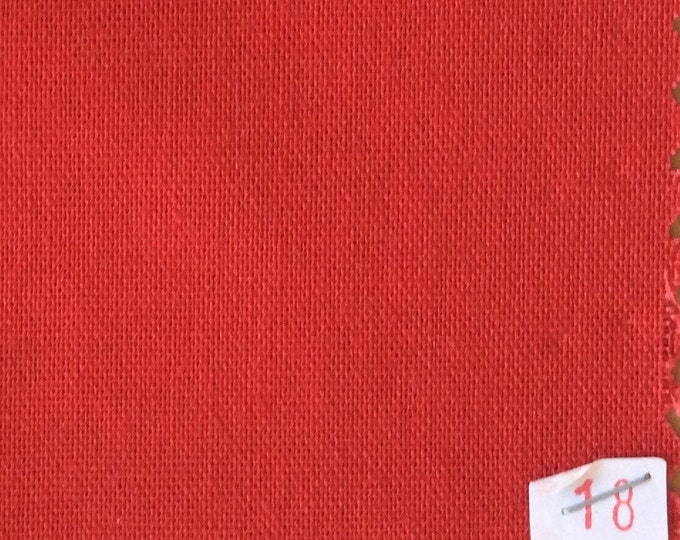 High quality soft cotton canvas dyed in Japan. Red nr18