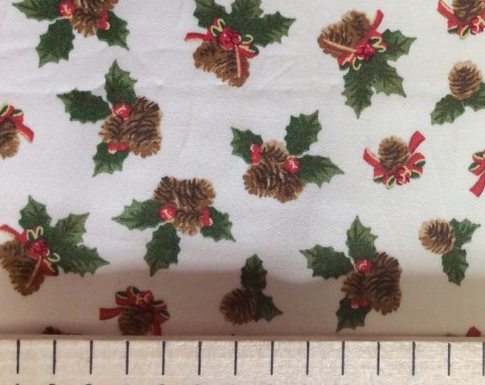 High quality cotton poplin, Christmas print on white