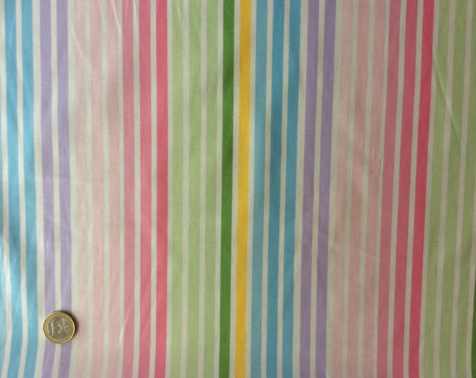 High quality cotton poplin, pastel stripes