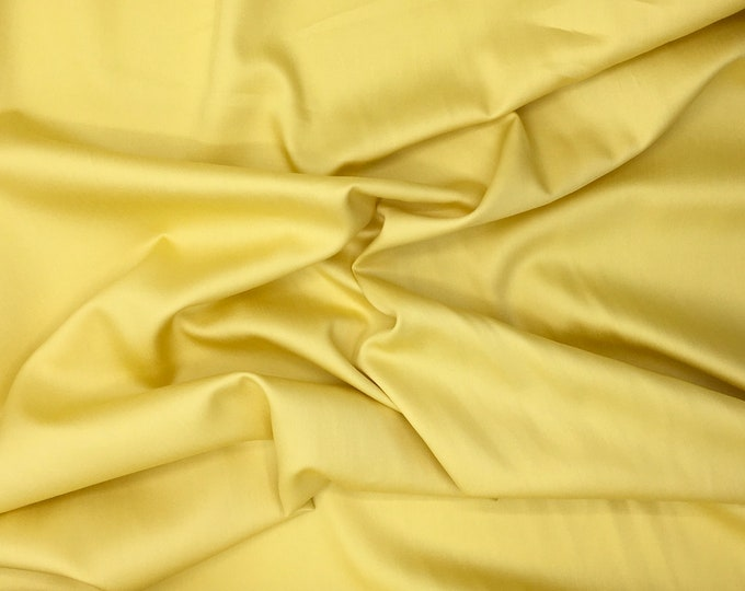 High quality cotton satin dyed in Japan, wheat yellow nr4