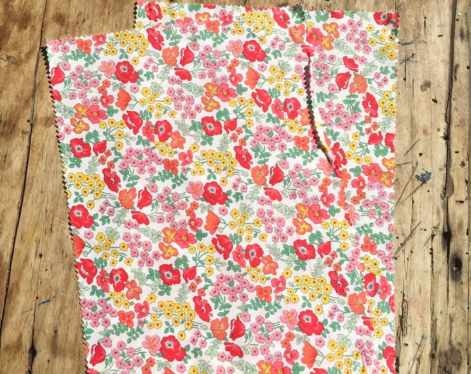 "Bundle of pima lawn fabric, 2 rectangles 8""x13"""