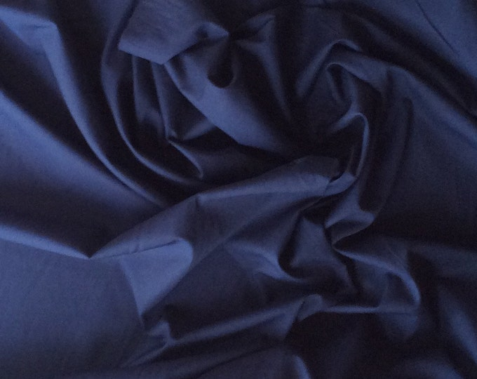 High quality cotton poplin dyed in Japan. Navy no10