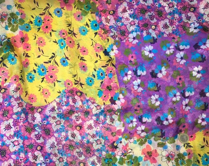 Genuine silk chiffon, floral print