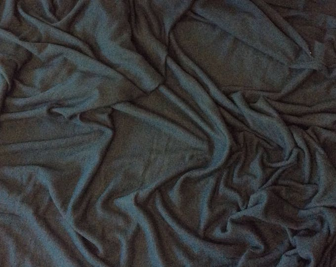 Dark green cotton/viscose jersey fabric