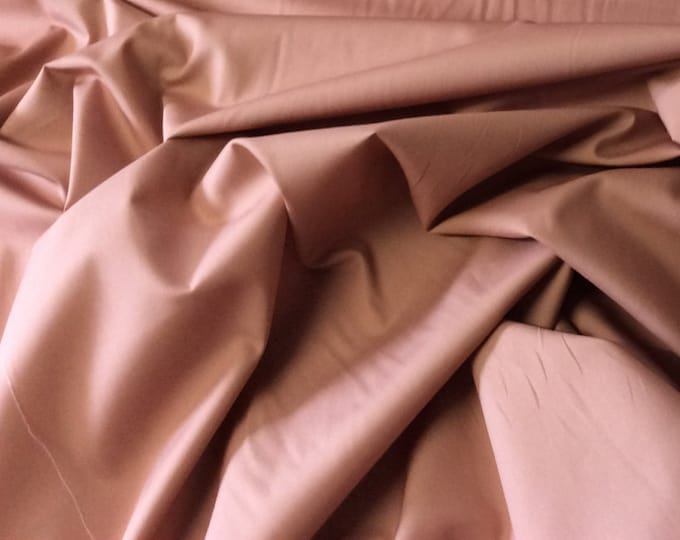 High quality cotton poplin dyed in Japan. Old pink nr51