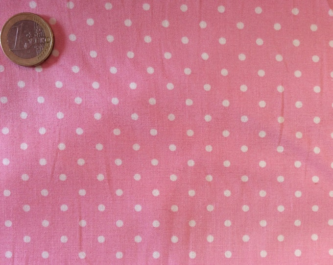 High quality cotton poplin dyed in Japan with 3mm polka dots no17